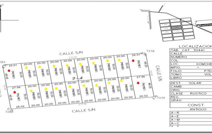 Foto de terreno habitacional en venta en, komchen, mérida, yucatán, 1353639 no 05