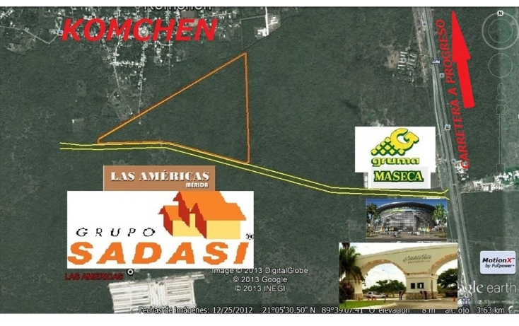 Foto de terreno habitacional en venta en  , komchen, m?rida, yucat?n, 1378675 No. 04