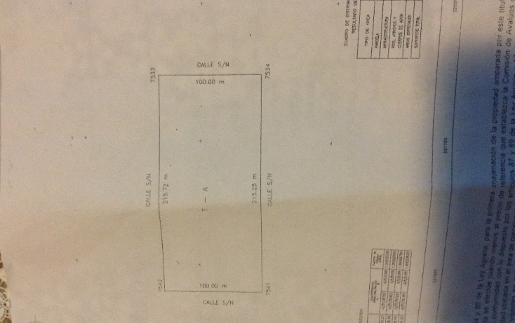 Foto de terreno habitacional en venta en  , komchen, m?rida, yucat?n, 1419719 No. 01
