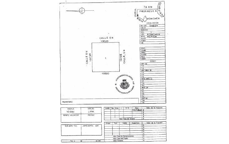 Foto de terreno habitacional en venta en  , komchen, mérida, yucatán, 1557528 No. 08