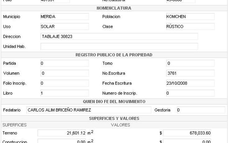 Foto de terreno habitacional en venta en  , komchen, mérida, yucatán, 2637294 No. 05