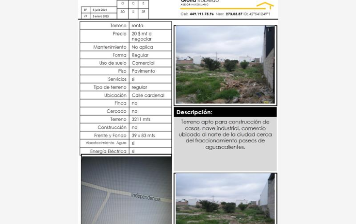 Foto de terreno comercial en renta en  l17 m15, paso blanco, jes?s mar?a, aguascalientes, 1570276 No. 01