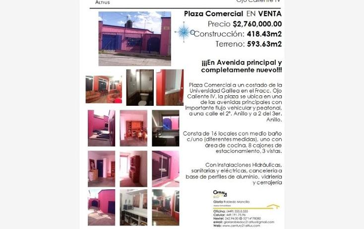 Foto de edificio en venta en  l20 l24, ojo caliente iv, aguascalientes, aguascalientes, 384971 No. 01
