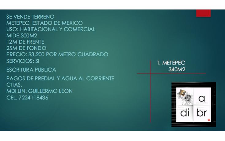 Foto de terreno comercial en venta en  , la asunción, metepec, méxico, 1971892 No. 06
