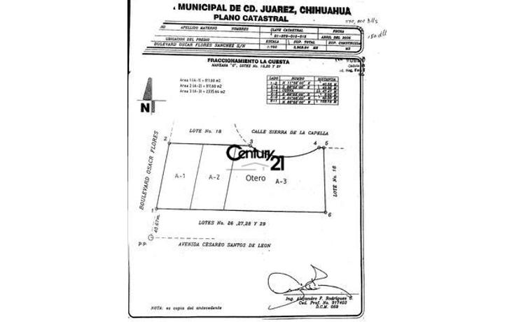 Foto de terreno habitacional en venta en  , la cuesta 1, juárez, chihuahua, 1180533 No. 02