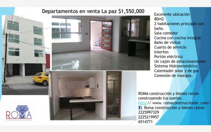 Foto de departamento en venta en, la libertad, huaquechula, puebla, 1704082 no 01
