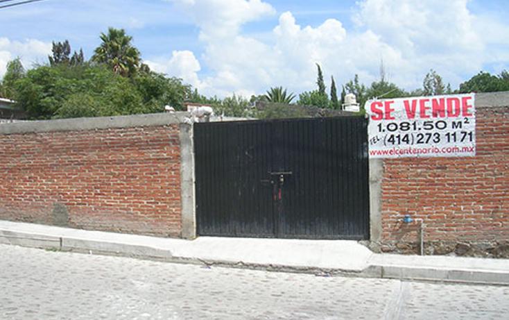Foto de terreno habitacional en venta en  , la magdalena, tequisquiapan, quer?taro, 1306061 No. 01