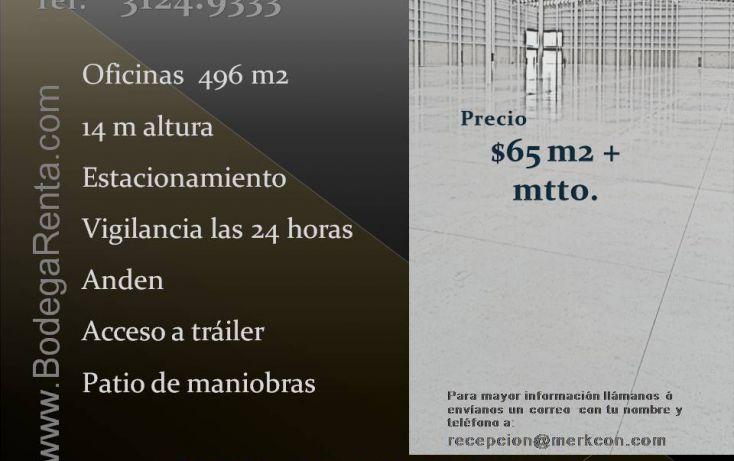 Foto de bodega en renta en, la magdalena, zapopan, jalisco, 1736608 no 01