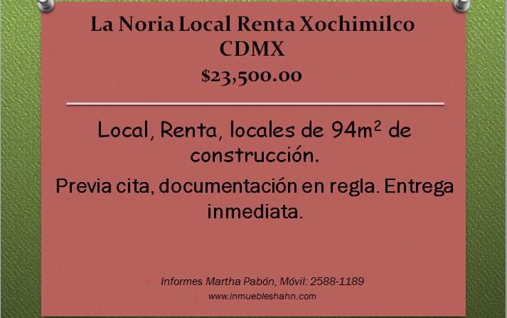 Foto de local en renta en  , la noria, xochimilco, distrito federal, 1144801 No. 01