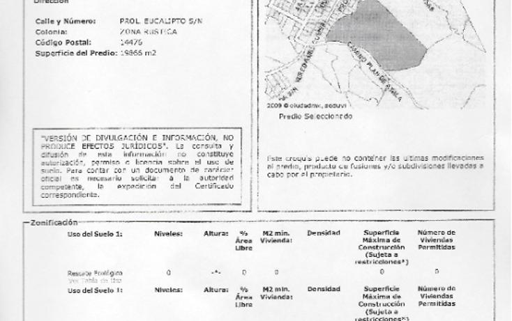 Foto de terreno habitacional en venta en  , la palma, tlalpan, distrito federal, 1470231 No. 01