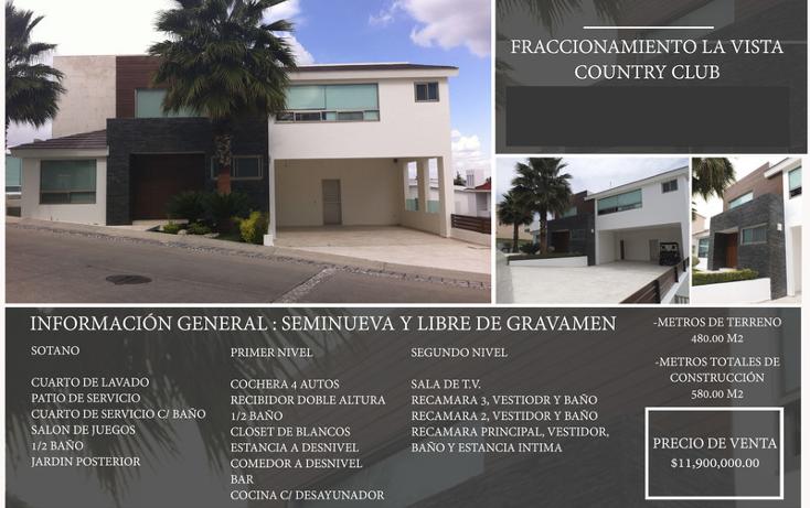 Foto de casa en venta en  , la vista contry club, san andr?s cholula, puebla, 1658899 No. 02
