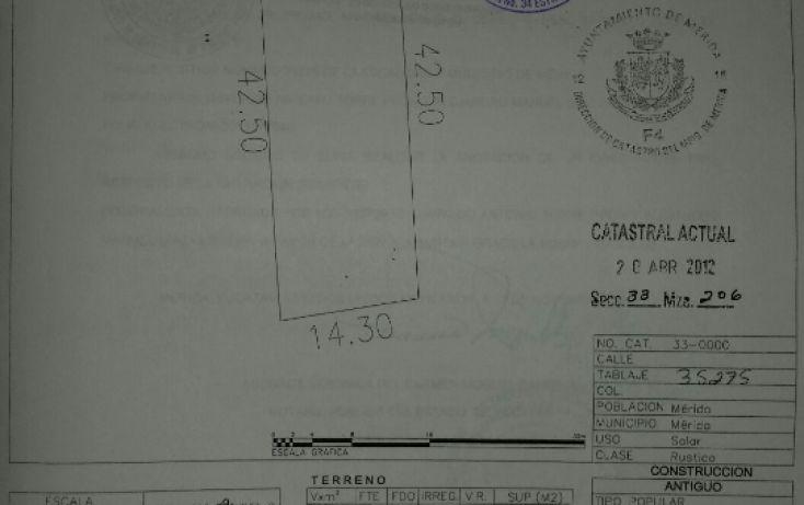 Foto de terreno habitacional en venta en, las américas ii, mérida, yucatán, 1353699 no 02