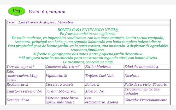 Foto de casa en venta en  , las fincas, jiutepec, morelos, 835359 No. 02