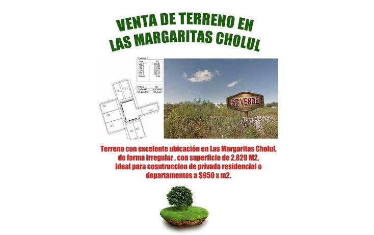 Foto de terreno habitacional en venta en  , las margaritas de cholul, mérida, yucatán, 1250601 No. 01