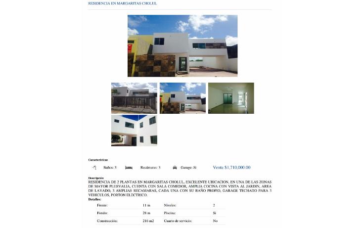 Foto de casa en venta en  , las margaritas de cholul, mérida, yucatán, 1467943 No. 01