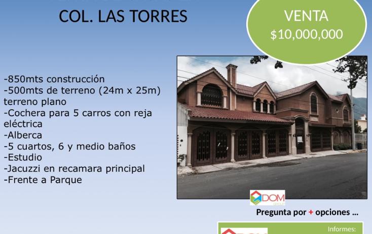 Foto de casa en venta en  , las torres, monterrey, nuevo león, 1627736 No. 01