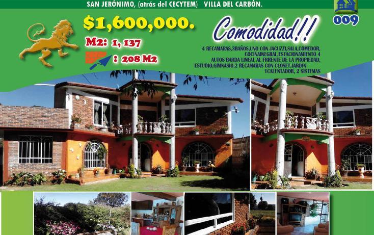 Foto de casa en venta en  , llano de zacapexco, villa del carbón, méxico, 1974703 No. 01