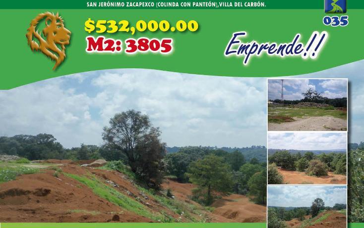Foto de terreno habitacional en venta en  , llano de zacapexco, villa del carbón, méxico, 1974707 No. 01