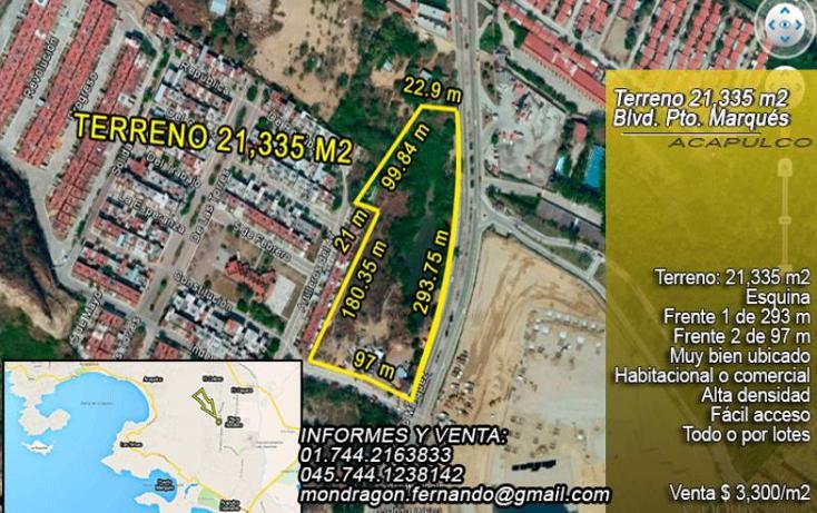 Foto de terreno comercial en venta en  , llano largo, acapulco de juárez, guerrero, 1377873 No. 01