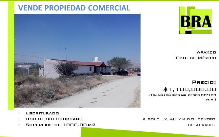 Foto de terreno comercial en venta en  , loma bonita, apaxco, méxico, 1475549 No. 01