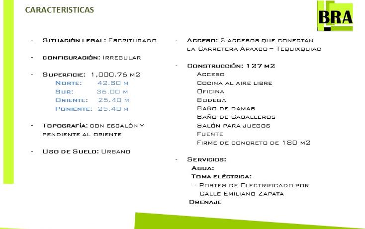 Foto de terreno comercial en venta en  , loma bonita, apaxco, méxico, 1475549 No. 06