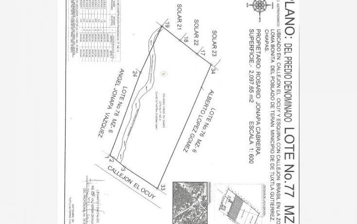Foto de terreno habitacional en venta en loma bonita, belisario domínguez, tuxtla gutiérrez, chiapas, 1779272 no 06