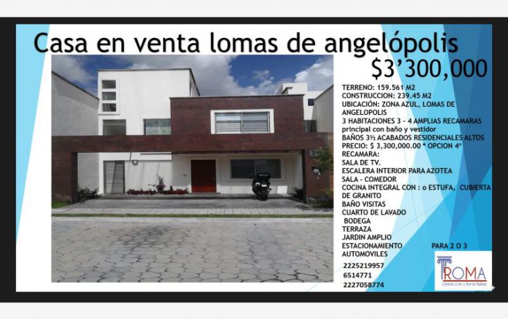 Foto de casa en venta en, lomas de angelópolis ii, san andrés cholula, puebla, 1588512 no 02