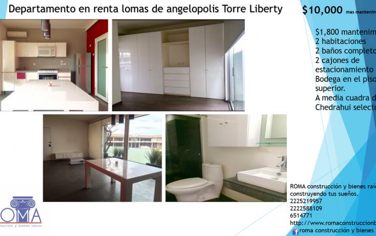 Foto de departamento en renta en, lomas de angelópolis ii, san andrés cholula, puebla, 2013428 no 01