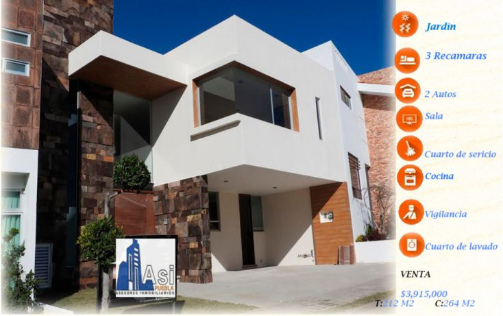 Foto de casa en venta en, lomas de angelópolis ii, san andrés cholula, puebla, 2035324 no 01