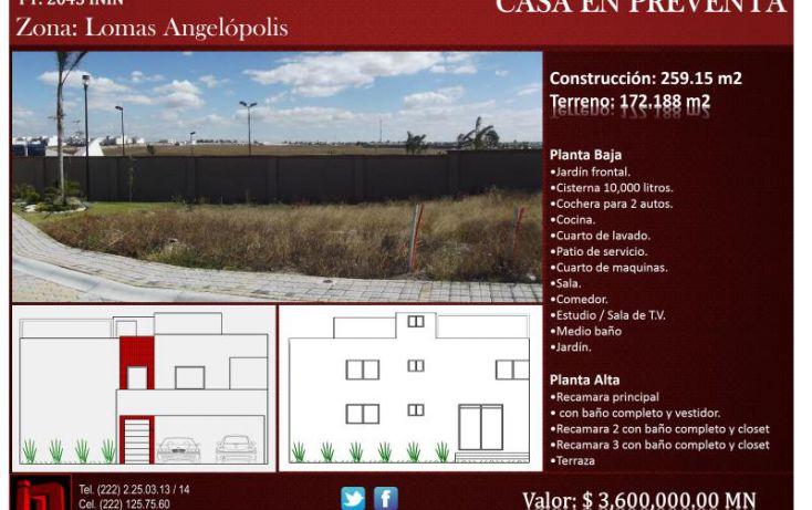 Foto de casa en venta en, lomas de atoyac, puebla, puebla, 1780816 no 01
