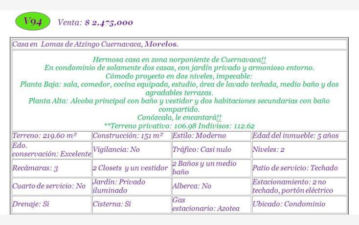 Foto de casa en venta en  , lomas de atzingo, cuernavaca, morelos, 1797134 No. 02