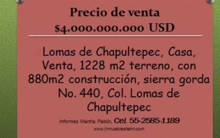 Foto de casa en venta en  , lomas de chapultepec i sección, miguel hidalgo, distrito federal, 1978936 No. 01
