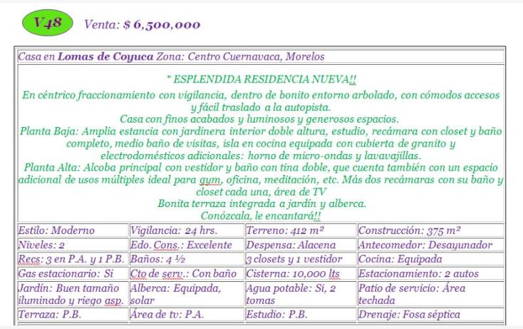 Foto de casa en venta en - -, lomas de coyuca, cuernavaca, morelos, 985083 No. 02