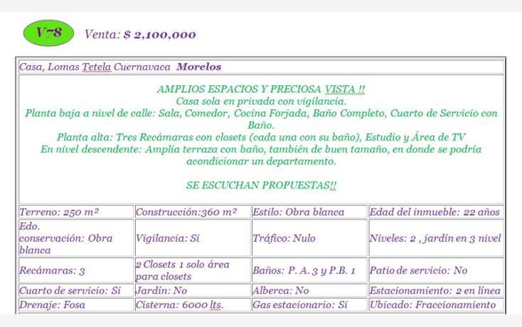Foto de casa en venta en  , lomas de tetela, cuernavaca, morelos, 1082405 No. 02