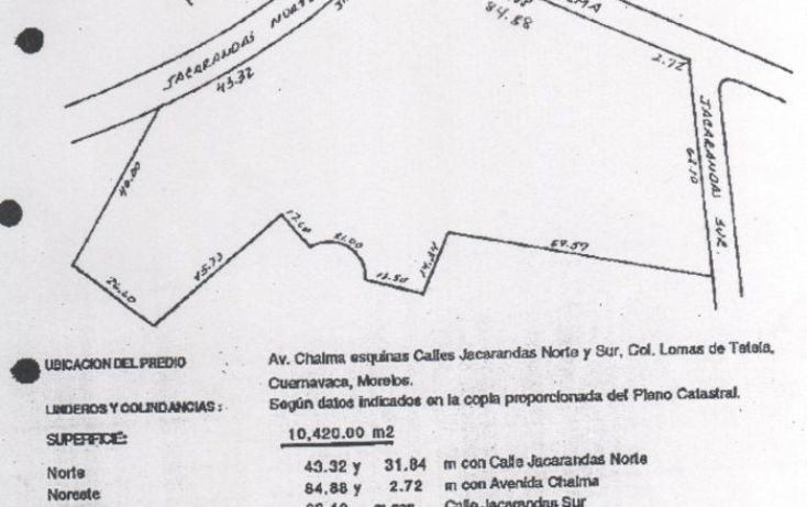 Foto de terreno comercial en venta en, lomas de tetela, cuernavaca, morelos, 1678214 no 02