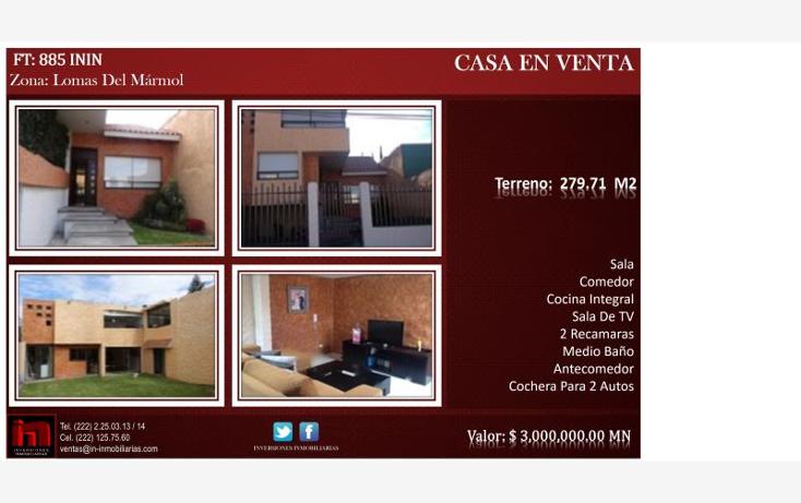 Foto de casa en venta en  , lomas del m?rmol, puebla, puebla, 1762272 No. 01