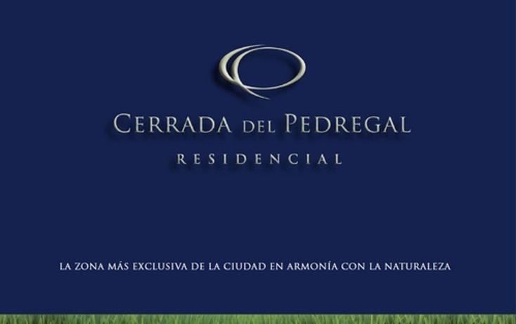 Foto de terreno habitacional en venta en  , lomas del pedregal, san luis potosí, san luis potosí, 1045805 No. 01