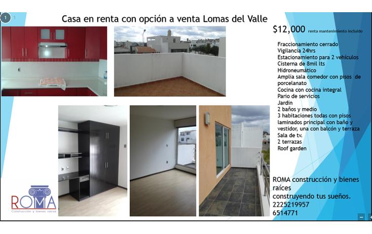 Foto de casa en renta en, lomas del valle, puebla, puebla, 1540663 no 01