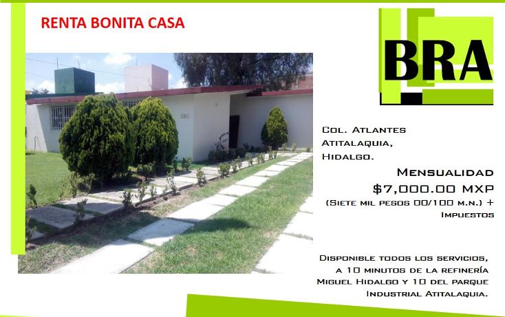 Foto de casa en renta en  , los atlantes, atitalaquia, hidalgo, 1554550 No. 01