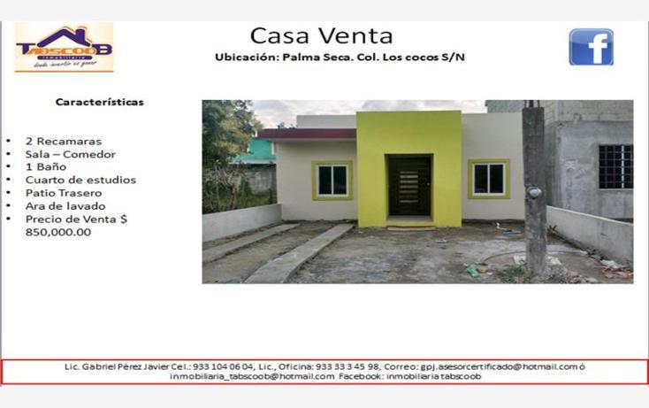 Foto de casa en venta en  , los cocos, paraíso, tabasco, 1751974 No. 01