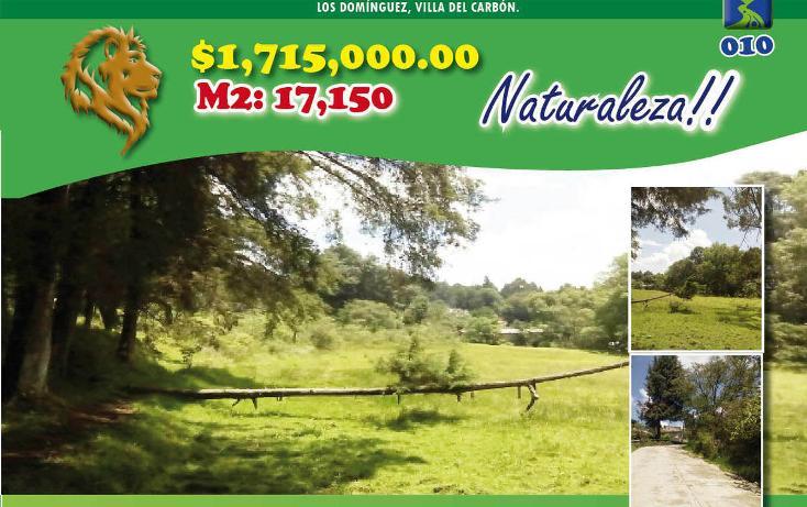 Foto de terreno habitacional en venta en  , los domínguez, villa del carbón, méxico, 2045445 No. 01
