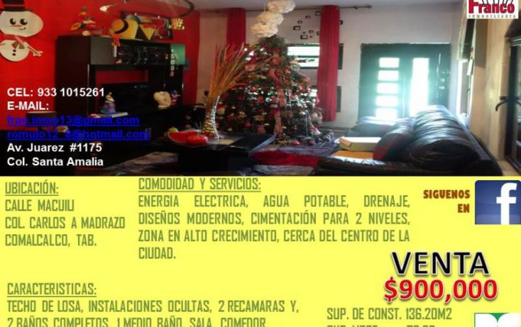 Foto de casa en venta en macuilis, ecológica lic carlos a madrazo becerra, comalcalco, tabasco, 1651800 no 08