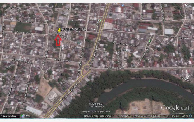 Foto de terreno habitacional en venta en macuspana centro juan aldama 1, josefa ortiz de dominguez, macuspana, tabasco, 1761464 no 02