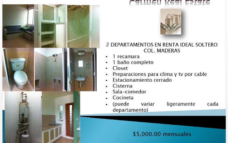 Foto de departamento en renta en  , maderas, carmen, campeche, 1117409 No. 01