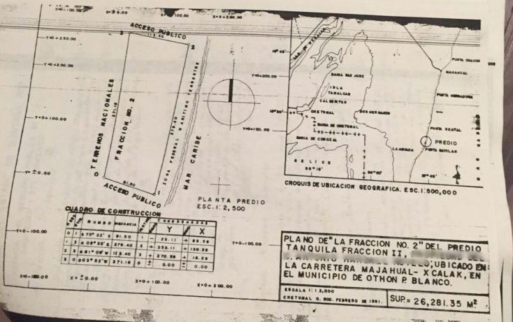 Foto de terreno habitacional en venta en, mahahual, othón p blanco, quintana roo, 1930488 no 01