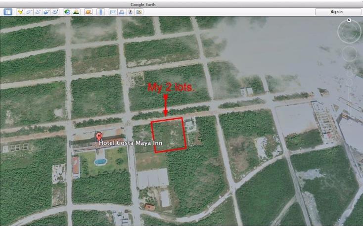 Foto de terreno habitacional en venta en  , mahahual, oth?n p. blanco, quintana roo, 2044757 No. 01