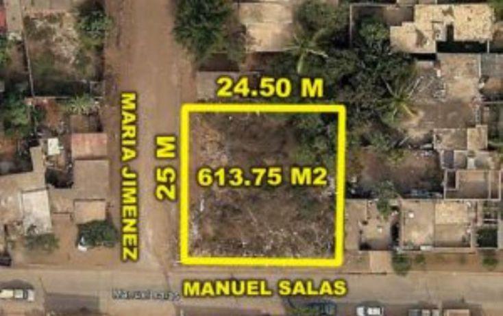Foto de terreno habitacional en venta en manuel salas y maria jimenez, ejidal, mazatlán, sinaloa, 1634026 no 01