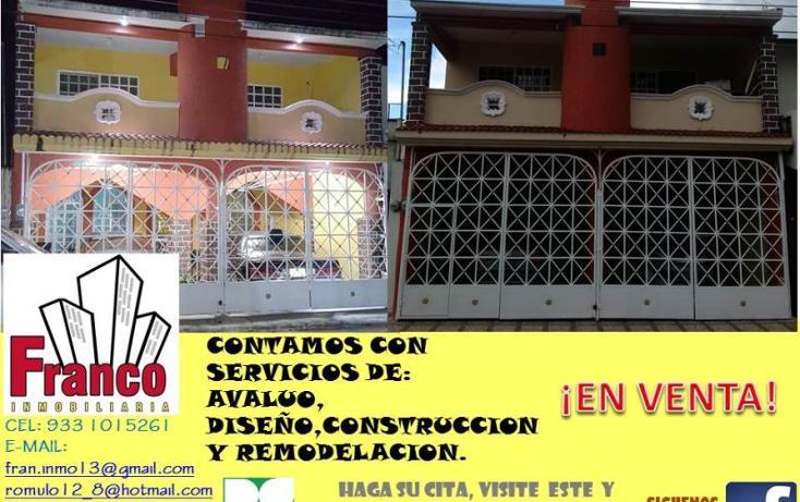 Foto de casa en venta en licenciado carlos salinas de gortari manzana 12lote 42, solidaridad nacional a c, comalcalco, tabasco, 1535980 No. 01