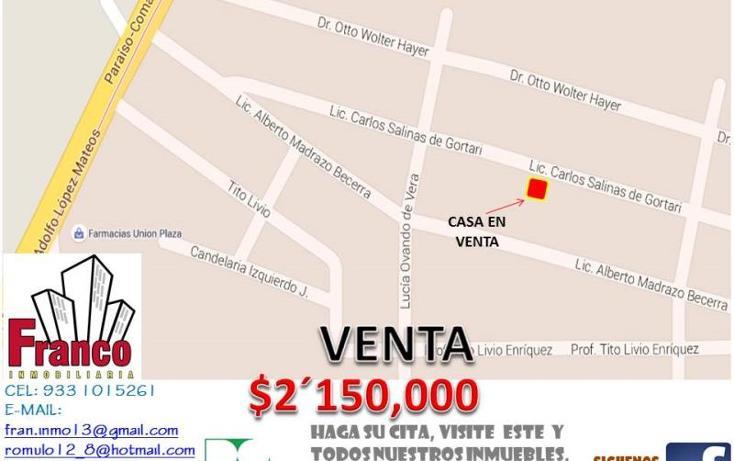 Foto de casa en venta en licenciado carlos salinas de gortari manzana 12lote 42, solidaridad nacional a c, comalcalco, tabasco, 1535980 No. 02