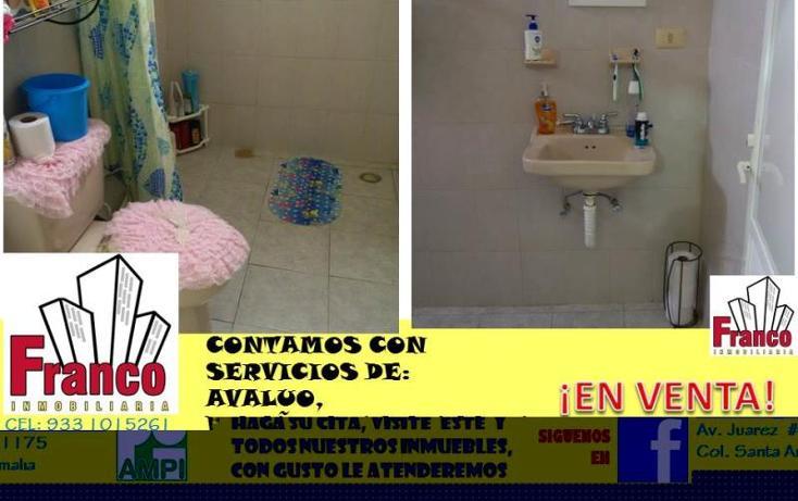 Foto de casa en venta en  manzana 12lote 42, solidaridad nacional a c, comalcalco, tabasco, 1535980 No. 12